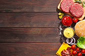Cheeseburger ingredients border