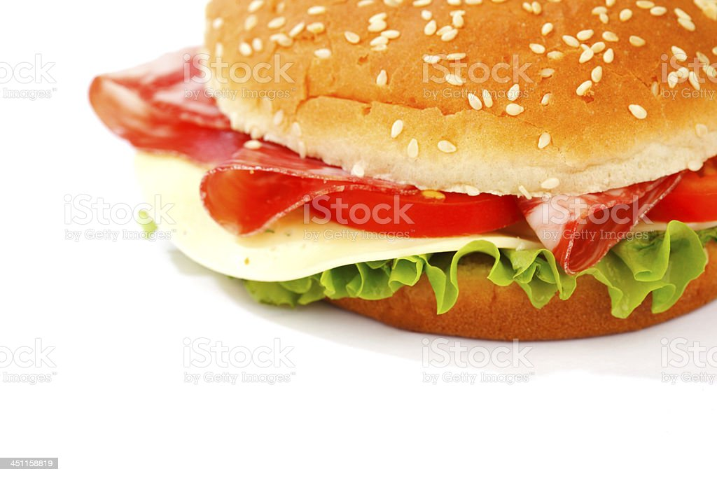 cheeseburger isolated on white royalty-free stock photo
