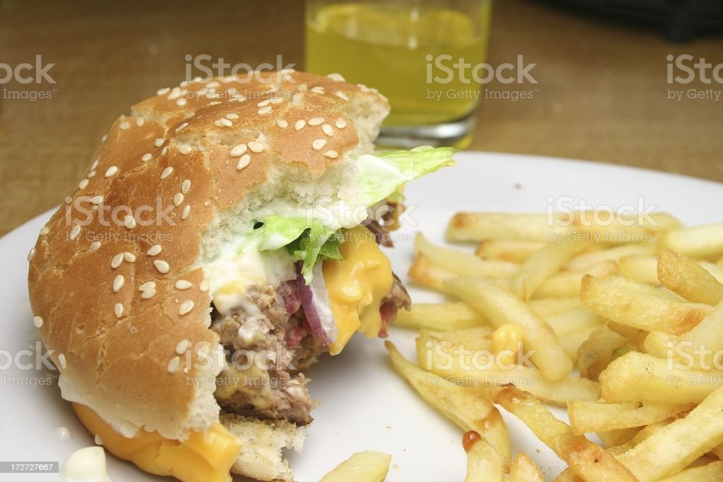 Cheeseburger Leftover royalty-free stock photo