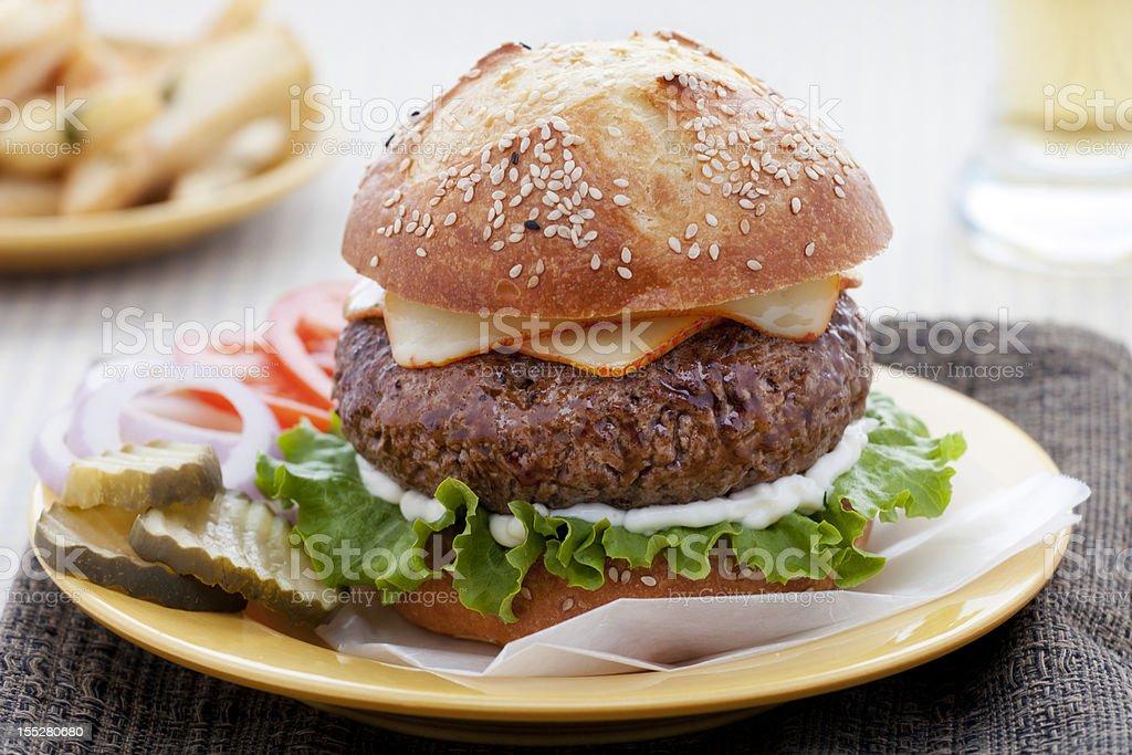 Cheeseburger royalty-free stock photo
