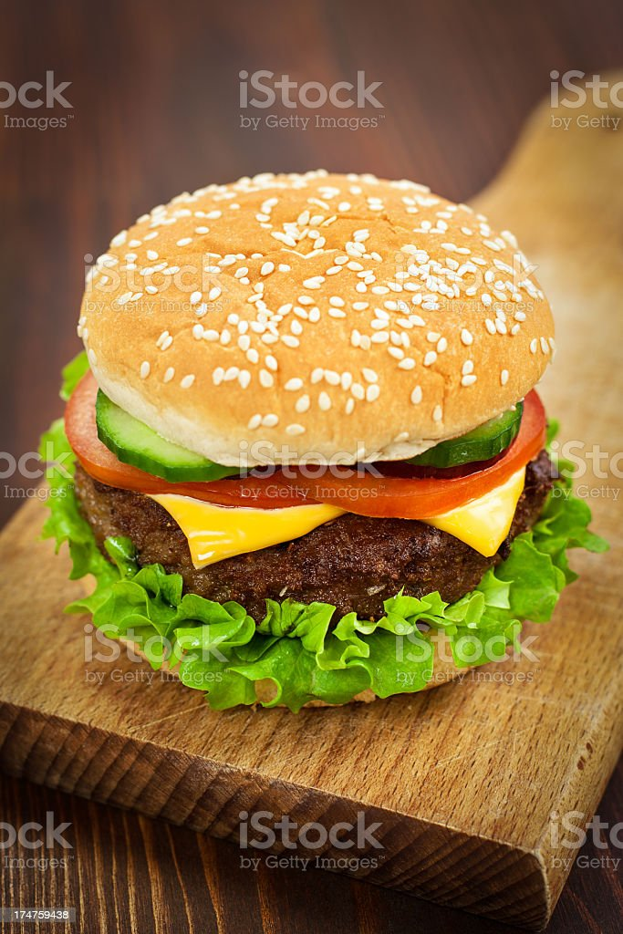 Cheeseburger royalty-free stock photo