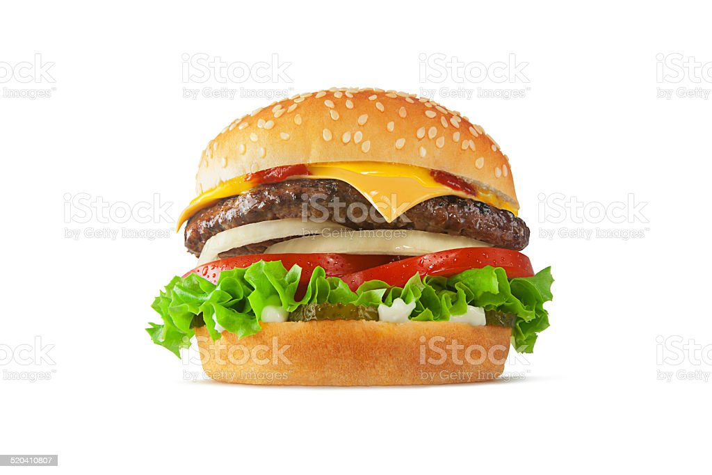 Cheeseburger stock photo