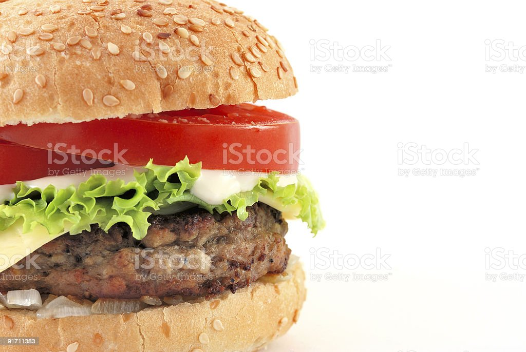 cheeseburger with copy space royalty-free stock photo
