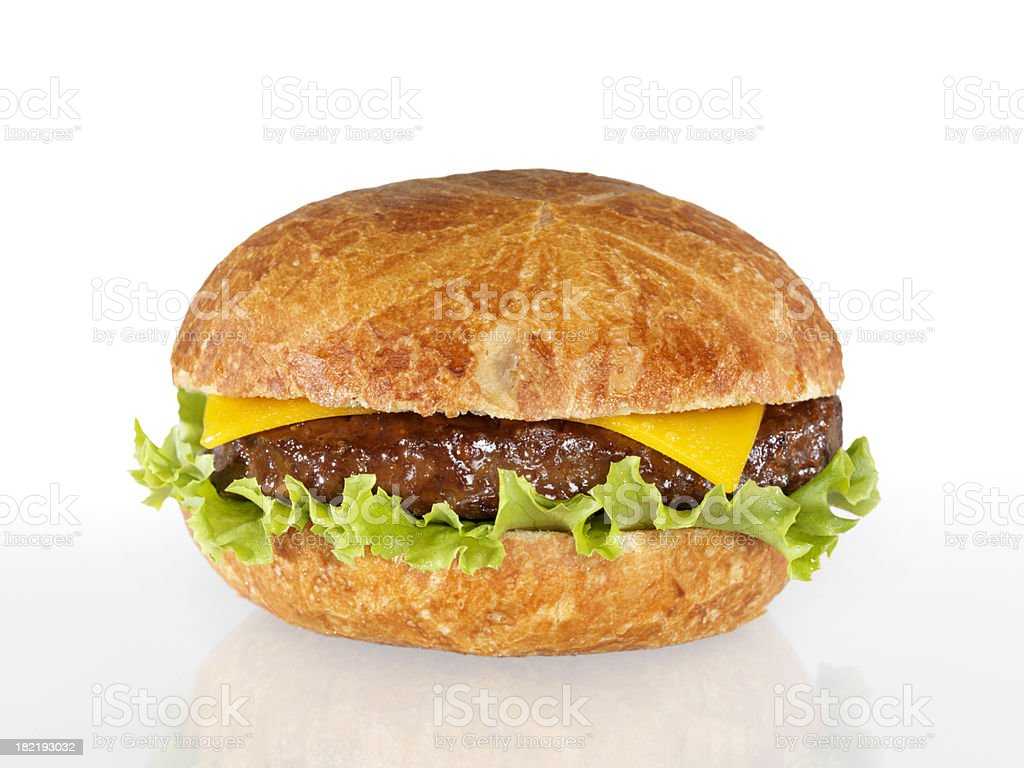 Cheeseburger with Lettuce royalty-free stock photo