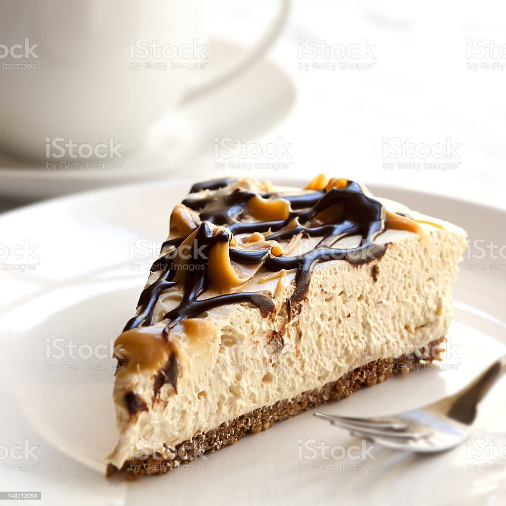 Cheesecake and Coffee stock photo
