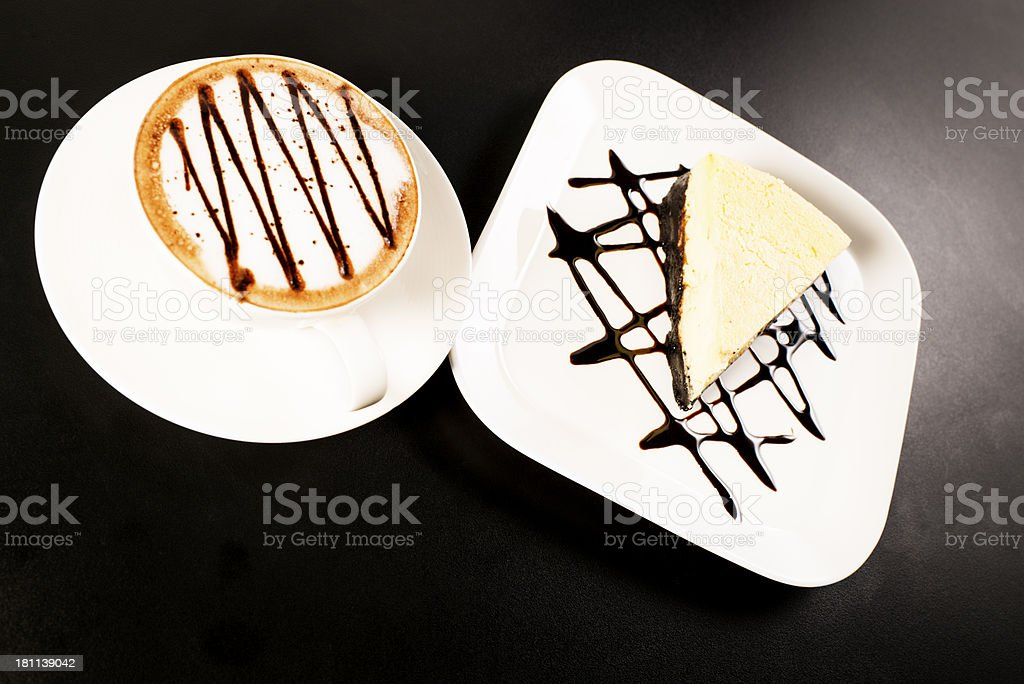 Cheesecake and Coffee royalty-free stock photo