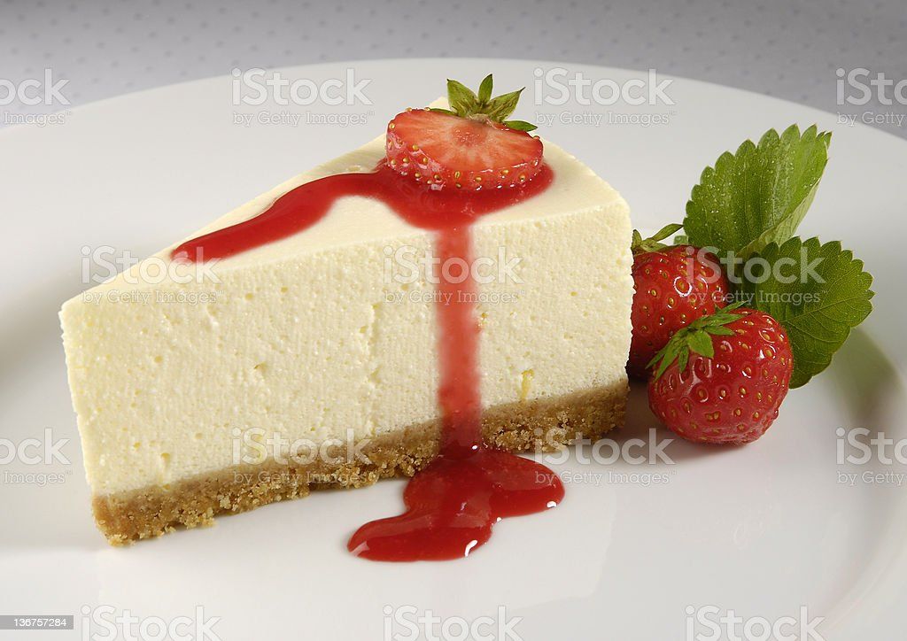 Cheesecake and Strawberries royalty-free stock photo