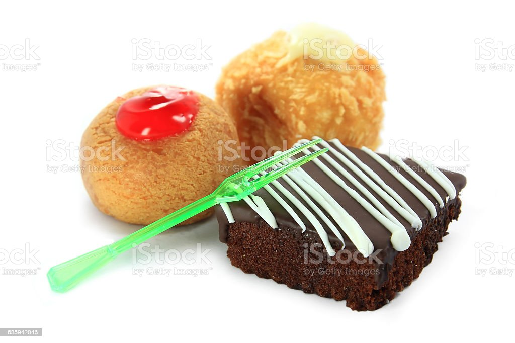 Cheesecake brownies with raspberry stock photo