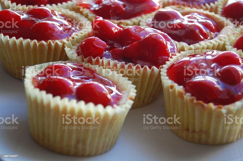Cheesecake Cups stock photo