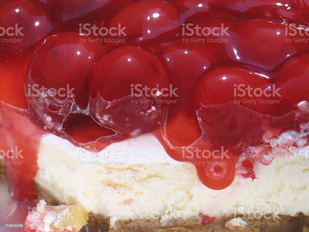 Cheesecake dripping stock photo