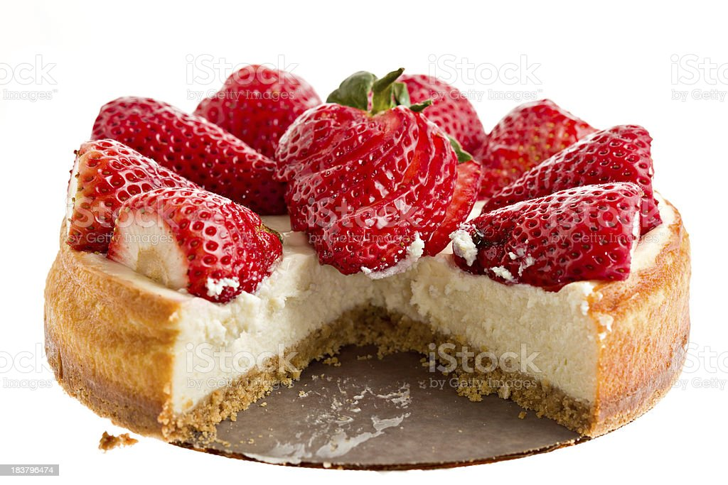 Cheesecake One Slice Missing royalty-free stock photo