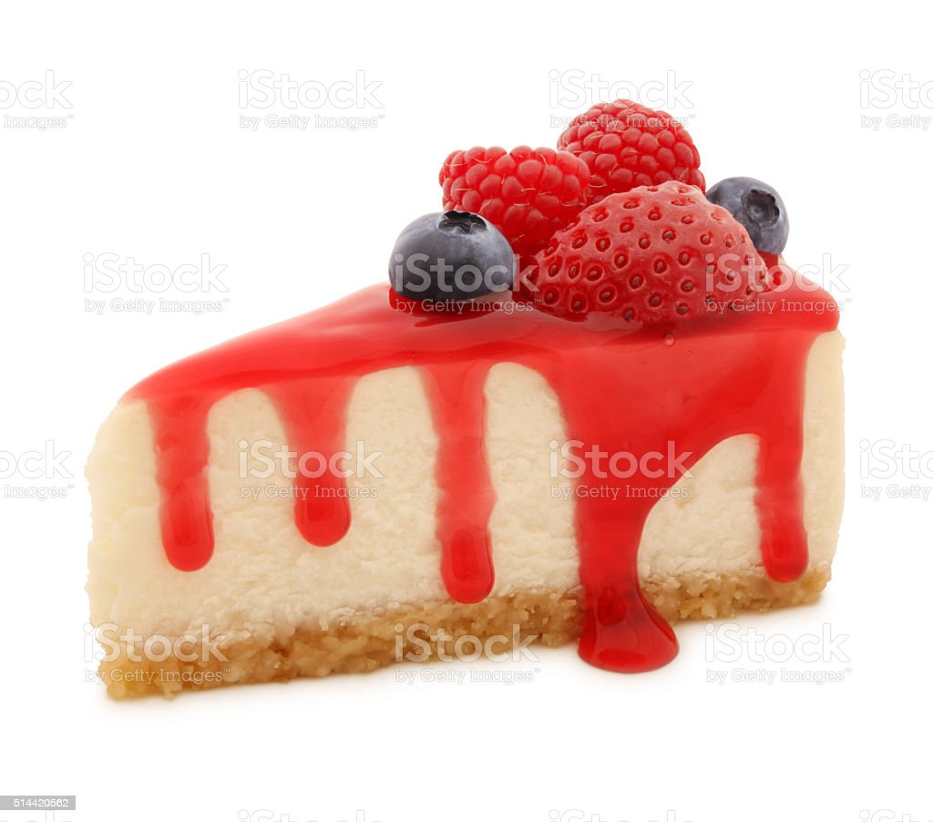 Cheesecake Slice (with path) stock photo