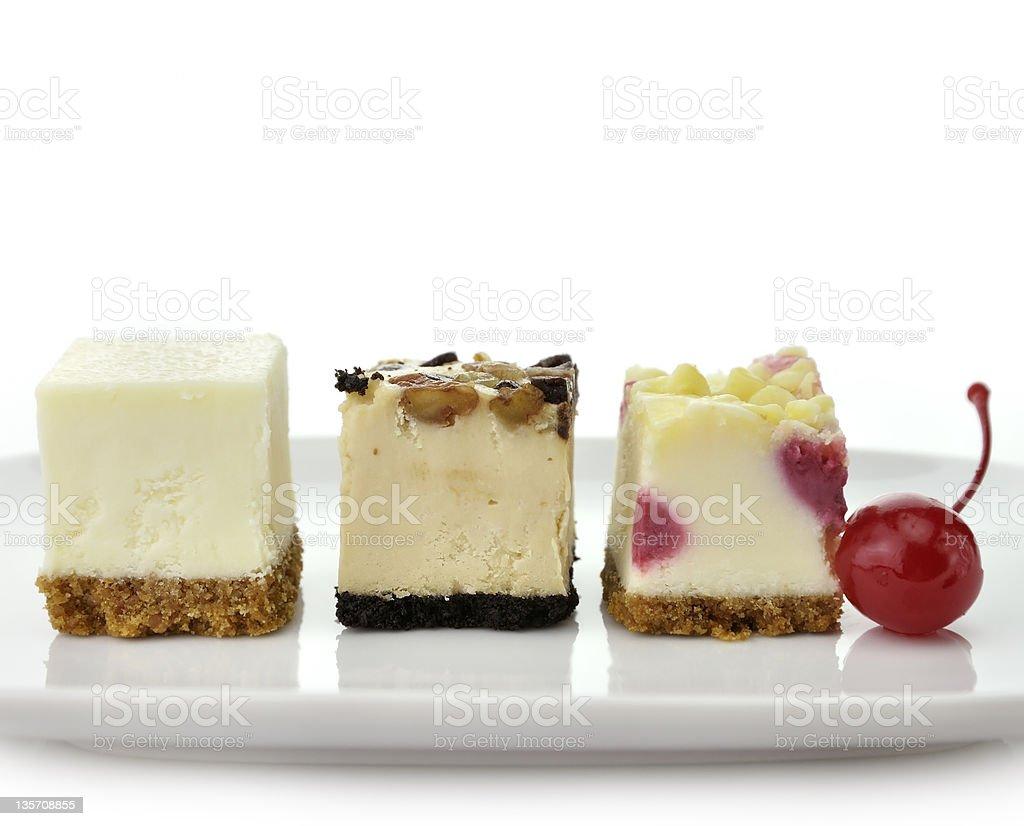 Cheesecake Slices stock photo