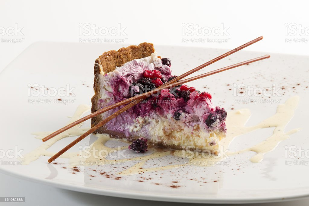 cheesecake with berries royalty-free stock photo