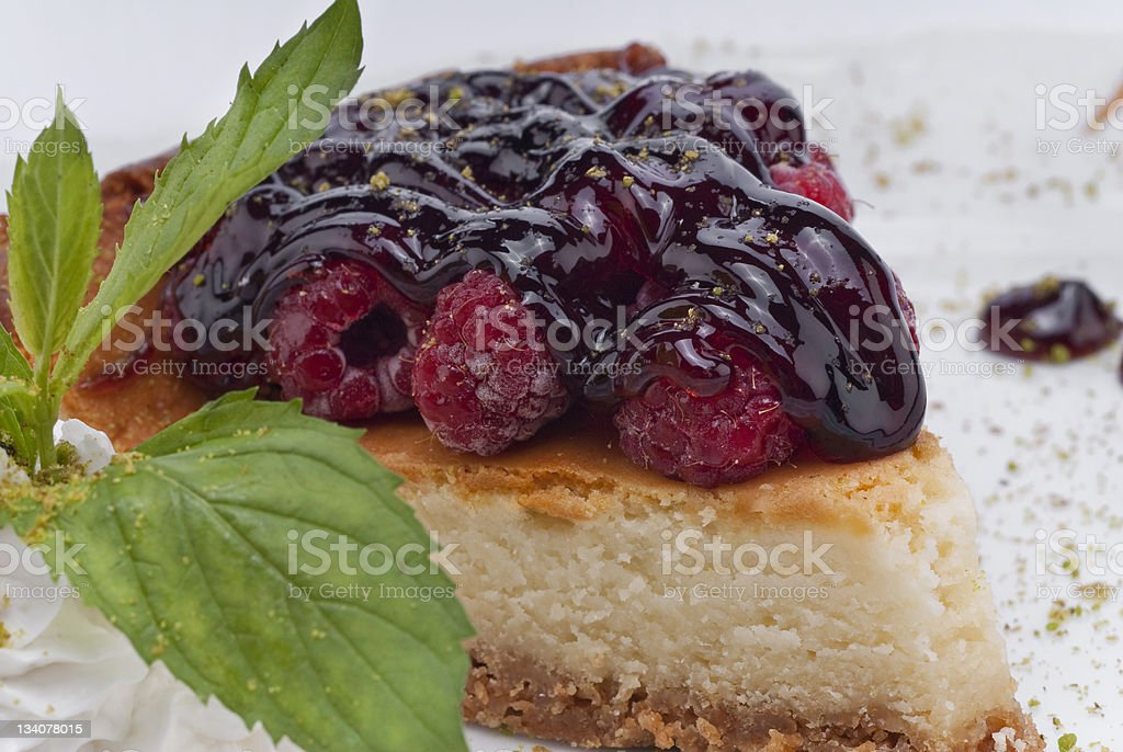 cheesecake with berry fruits royalty-free stock photo