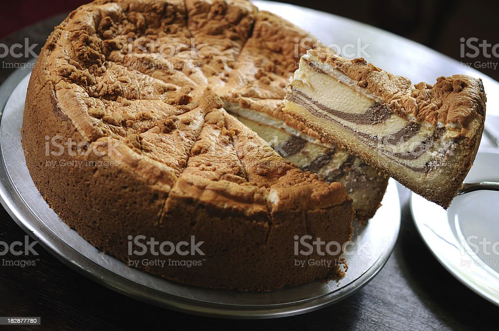 Cheesecake with chocolate royalty-free stock photo