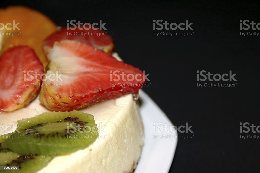 Cheesecake with Fruits royalty-free stock photo