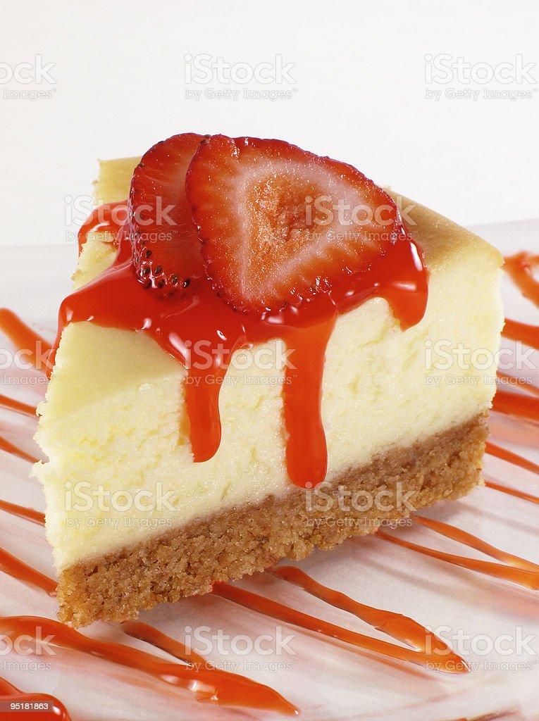 Cheesecake with Strawberries stock photo