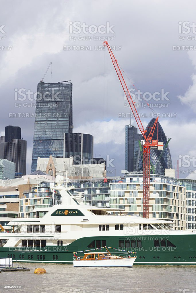 Cheesegrater Building in London, England royalty-free stock photo