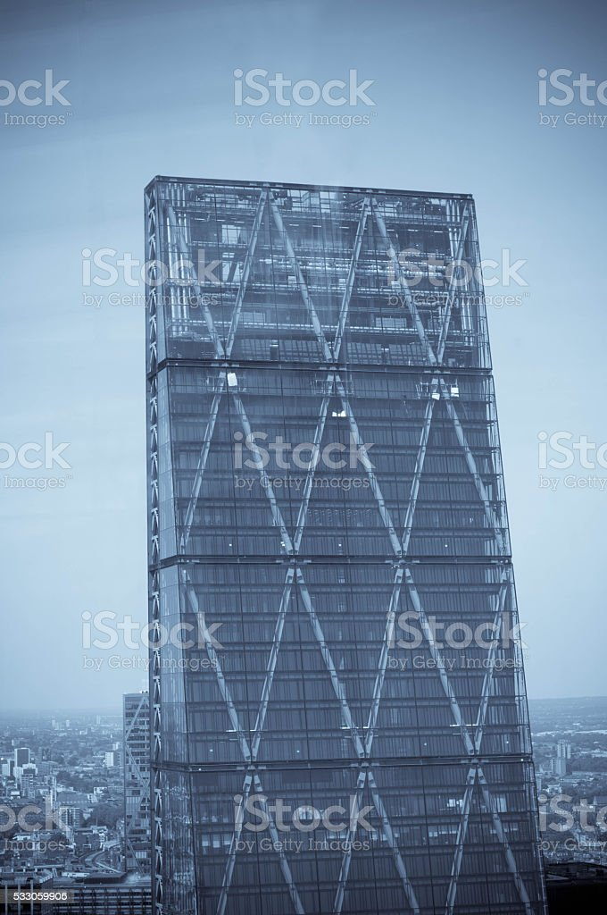 Cheesegrater building stock photo