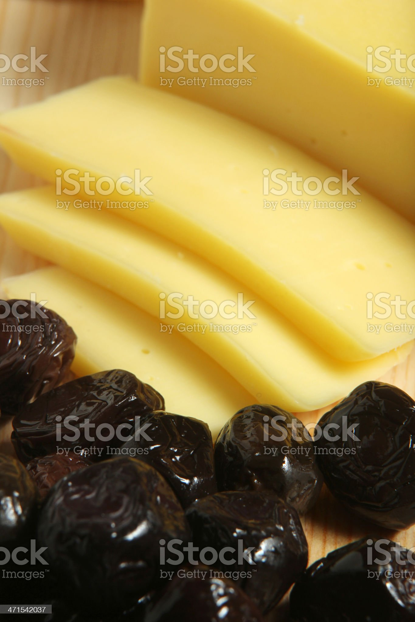 Cheesen and Olive royalty-free stock photo