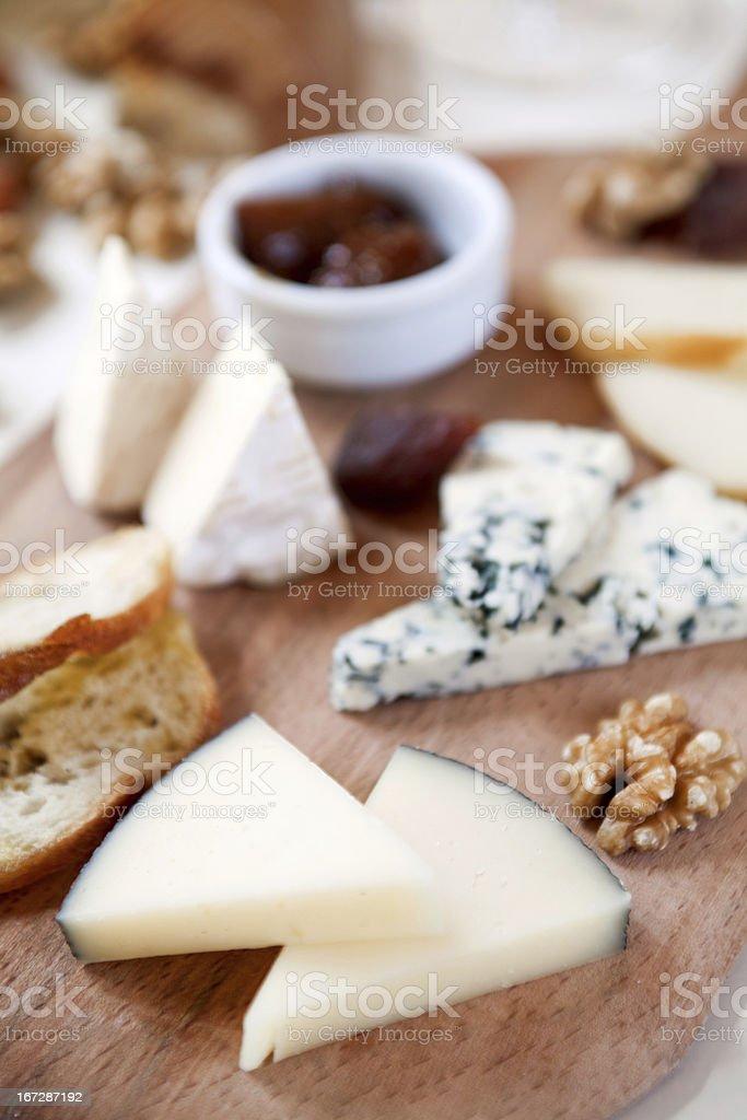 Cheeseplate stock photo
