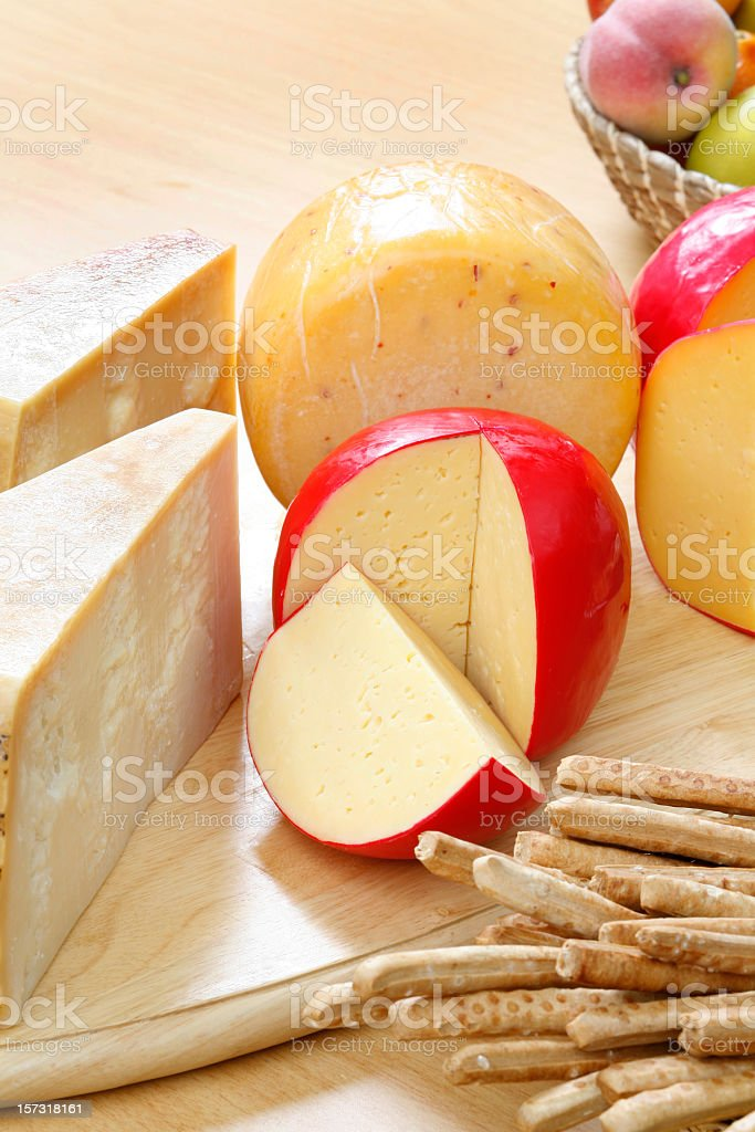 Cheeses and fruits 3 royalty-free stock photo