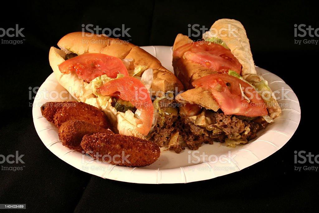 Cheesesteak Sandwich stock photo