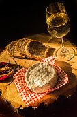 Cheese,wine and chili peppers