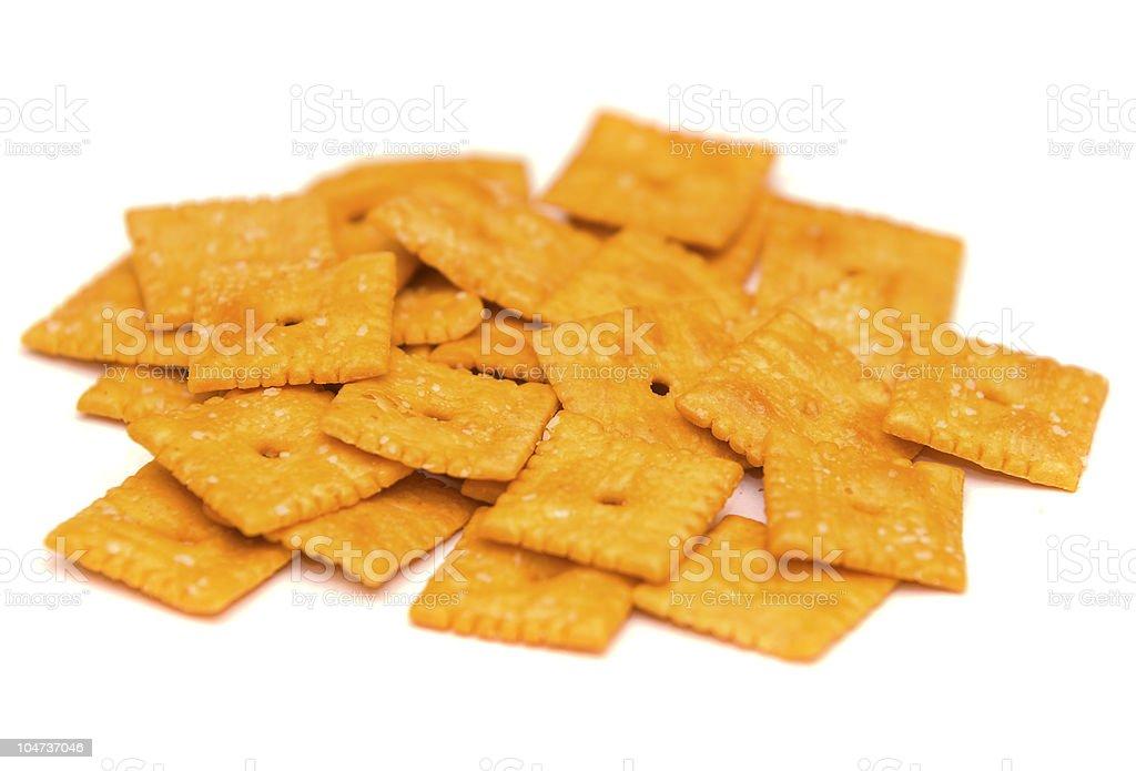 Cheesy Crackers stock photo