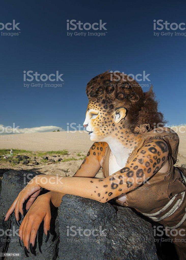 Cheetah Woman royalty-free stock photo