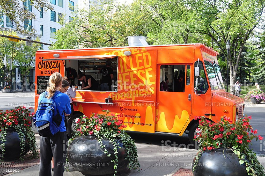 Cheezy Business food truck royalty-free stock photo