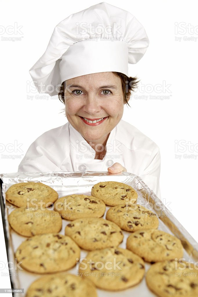 Chef Baking Cookies royalty-free stock photo