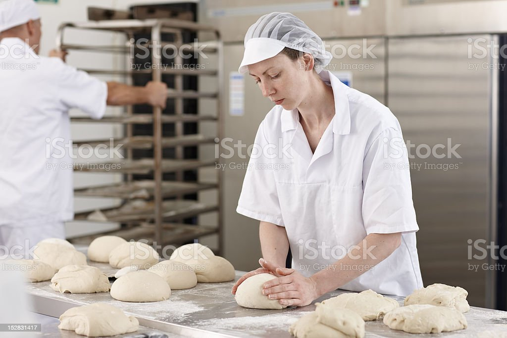 Chef baking in kitchen royalty-free stock photo