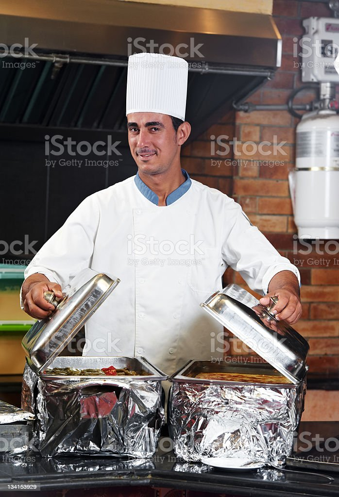 chef boiling a soup royalty-free stock photo