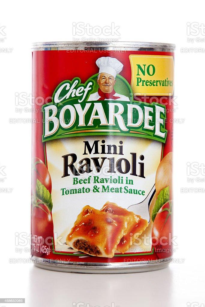 Chef Boyardee Mini Ravioli stock photo