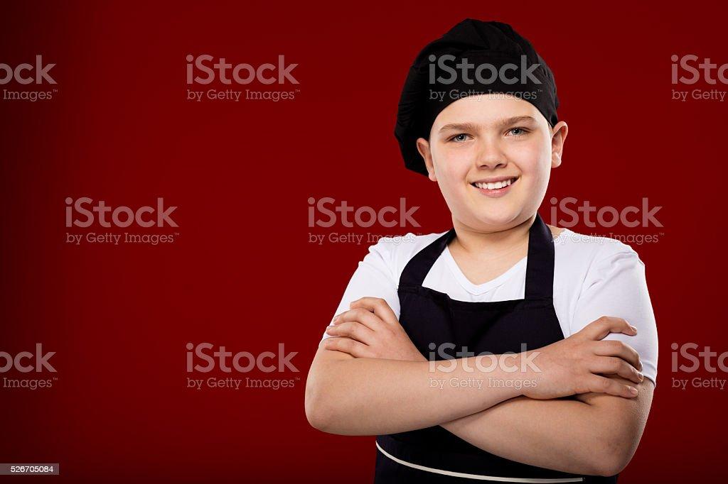 Chef Child stock photo