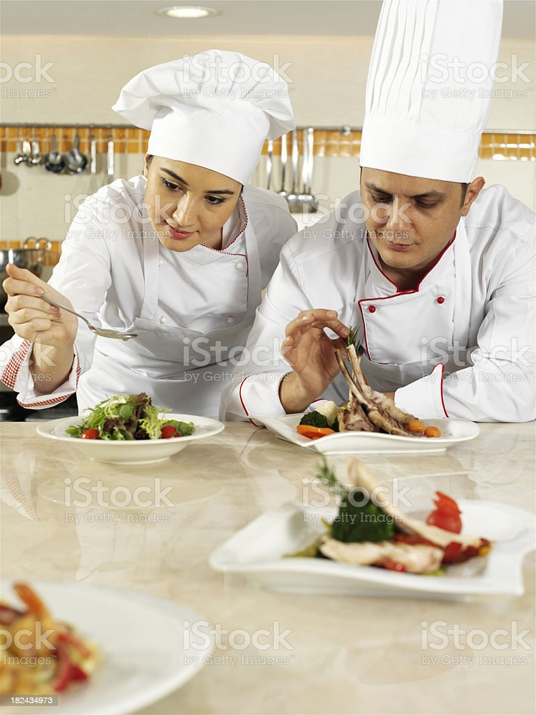 chef completing order royalty-free stock photo