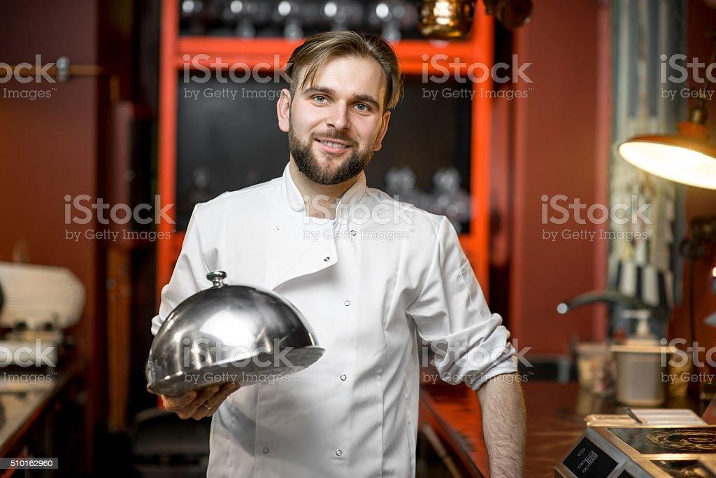 Chef cook portrait stock photo