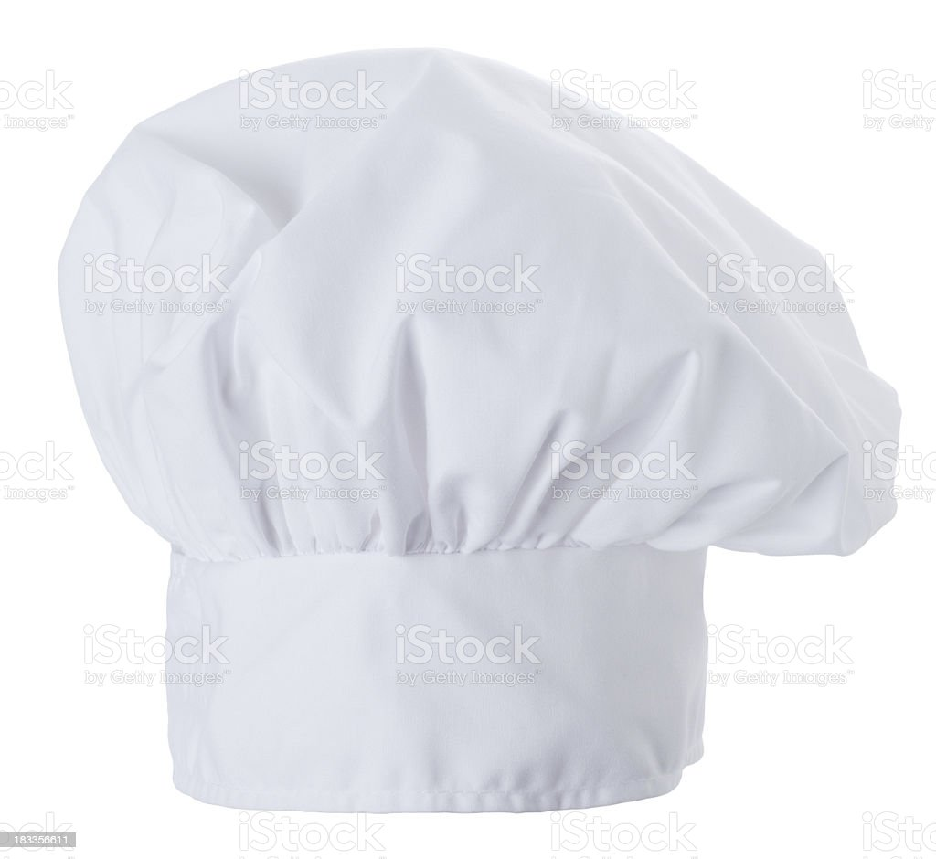 chef hat isolated on a white background stock photo