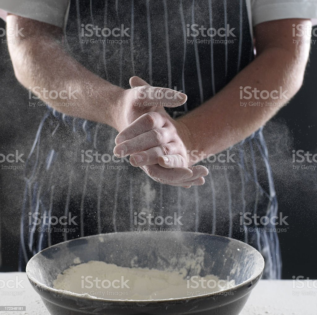 chef making bread royalty-free stock photo