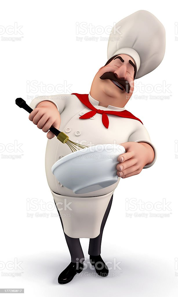 Chef Mixing with rhythm stock photo