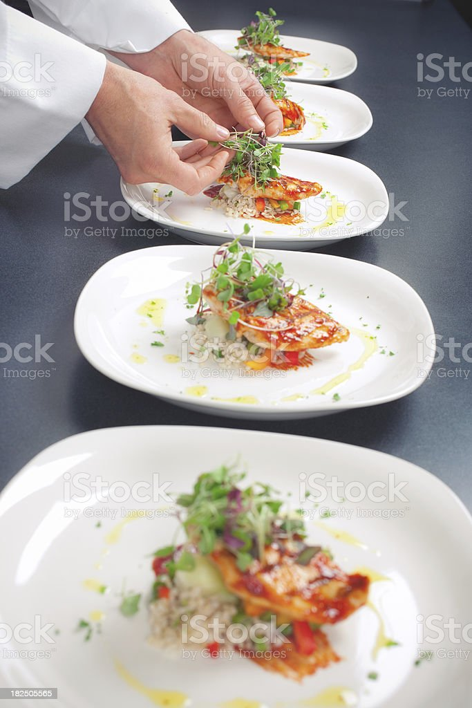 Chef Plating royalty-free stock photo