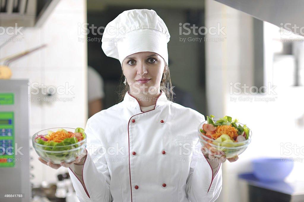 chef preparing meal stock photo