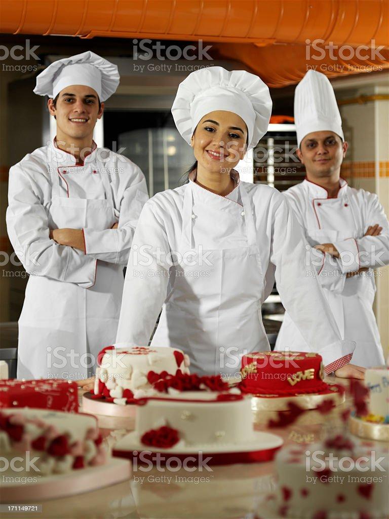 Chef Trio royalty-free stock photo