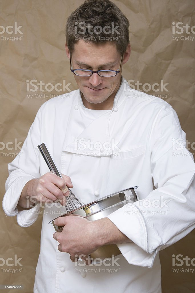 Chef Whisks in Bowl stock photo
