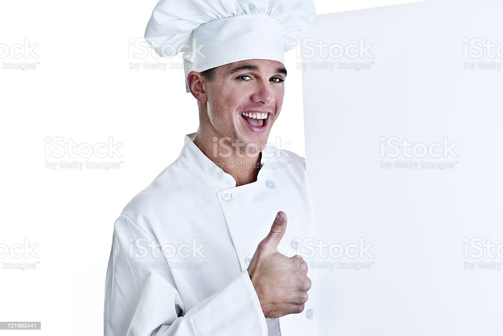 Chef with copy space royalty-free stock photo