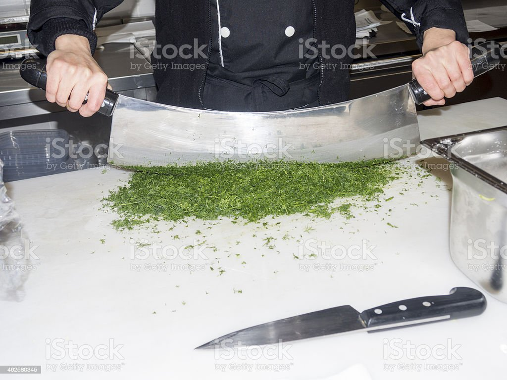 Chef Working in a Kitchen royalty-free stock photo