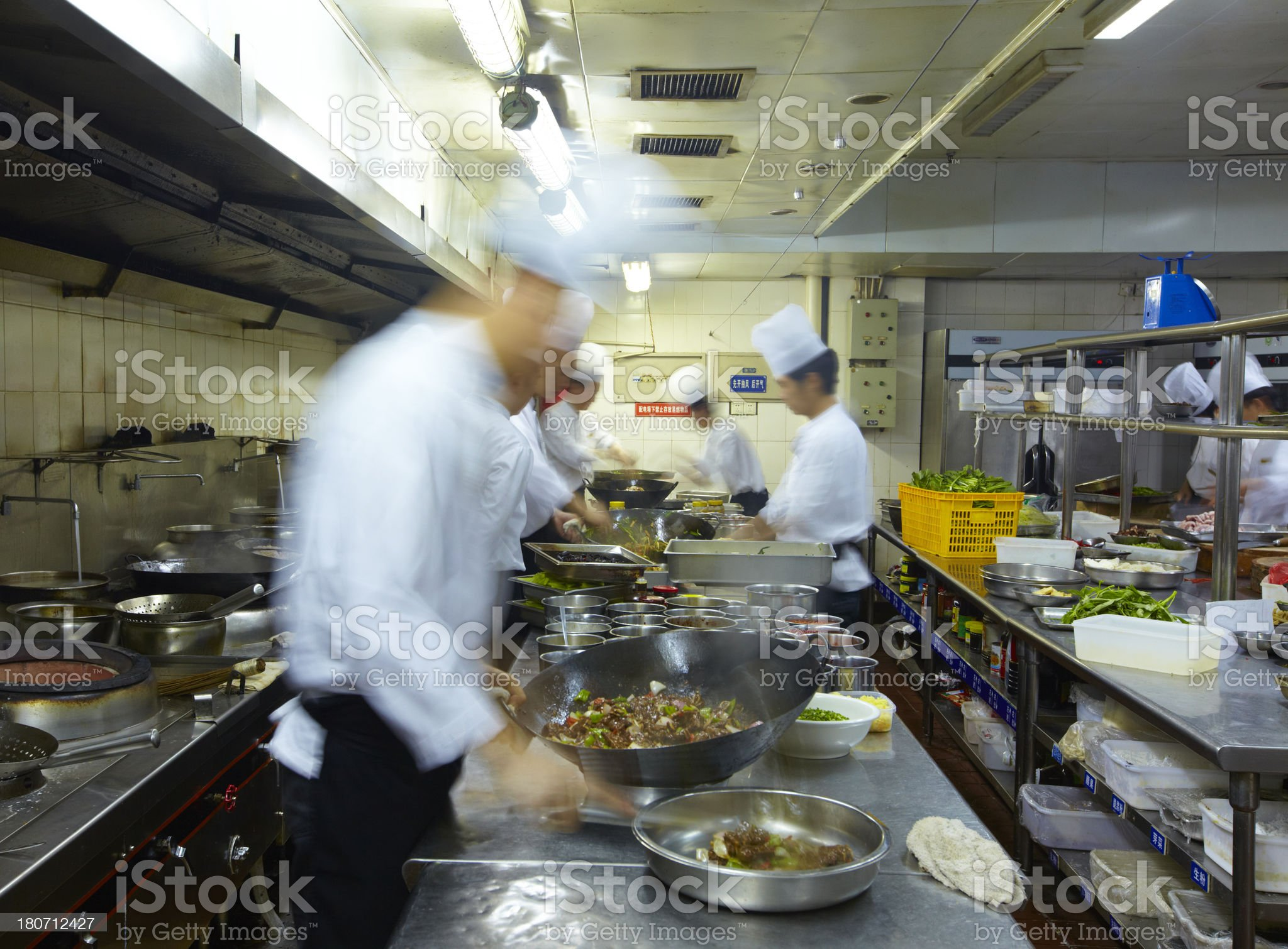chef working in the kitchen royalty-free stock photo