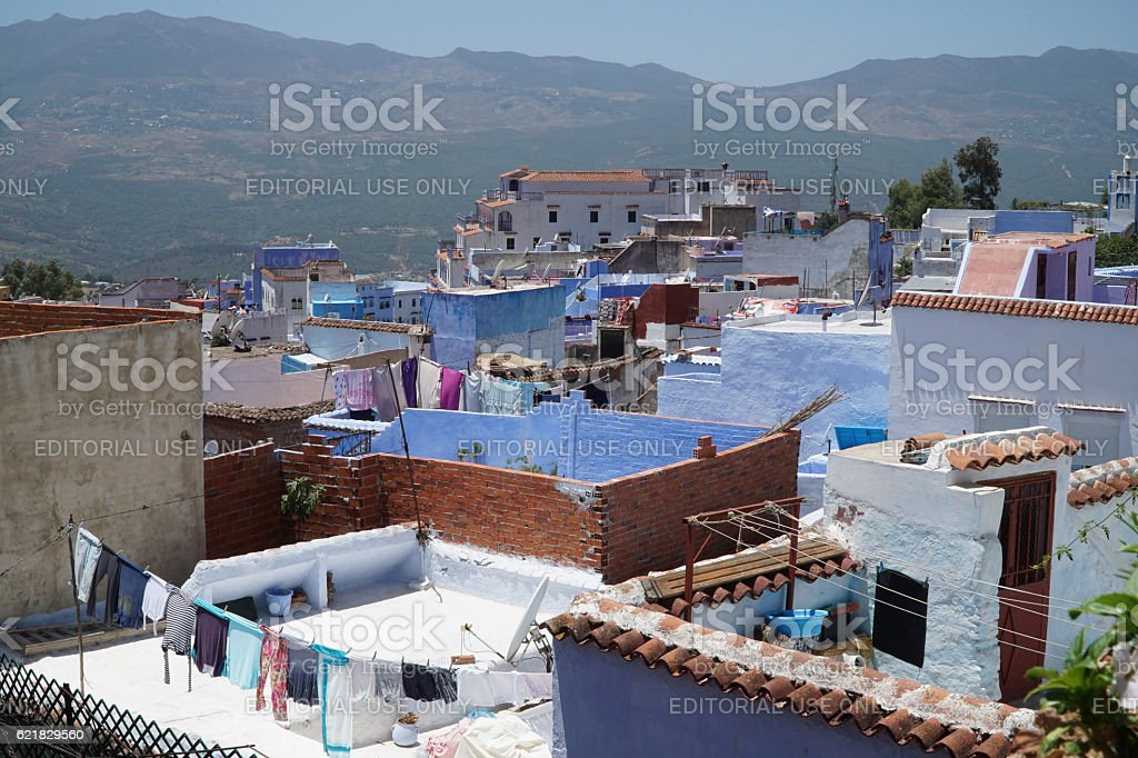 Chefchaouen in northern Morocco. stock photo